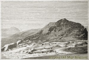 Armenian_Village_at_Araxes - 19th_century_engraving