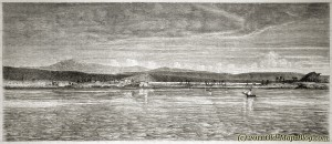 Coast of Troy, Turkey  - 19th century engraving