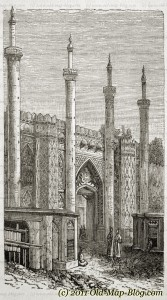 Gate_of_Tehran - 19th_century_engraving