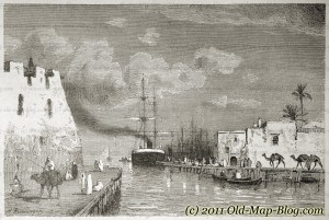 Harbour_of_La_Coletta, Tunis - 19th_century_engraving