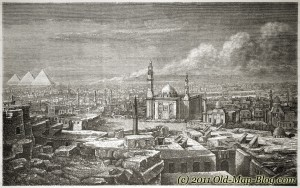 Kairo, Egypt - old engraving