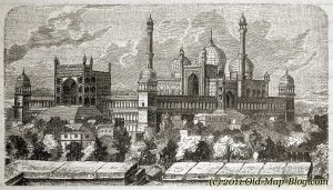 Mosque_in_Dehli - 19th_century_engraving