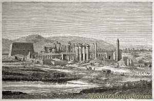 Templeruins_at_Karnak - 19th_century_engraving