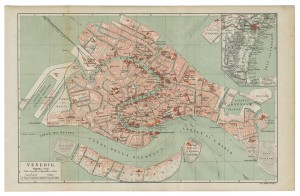 Venice, Italy - old map of