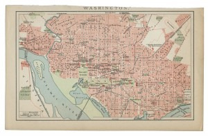 Old Map of Washington DC dated 1894