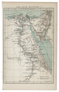old 19th century map of Ancient Egypt