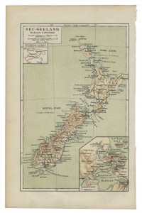 old 19th century map Newzealand