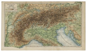 old_map_central european_alps_19th_century