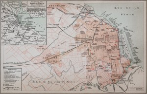 Old Map - 19th century - Buenos Aires - Argentinia