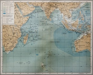 Old Map of the Indian Ocean 19th Century