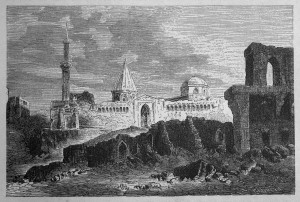 Ruins at Konia, Cyprus - 19th Century engraved Landscape