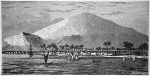 Mauii, Hawaii Harbour - Old 19th century engraving