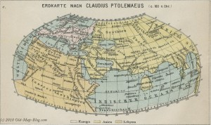 World according to Ptolemy - 160 A.C.