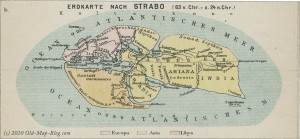 World according to Strabo 63 B.C. - 24 A.C.
