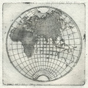 Intaglio Print of the Eastern Hemisphere
