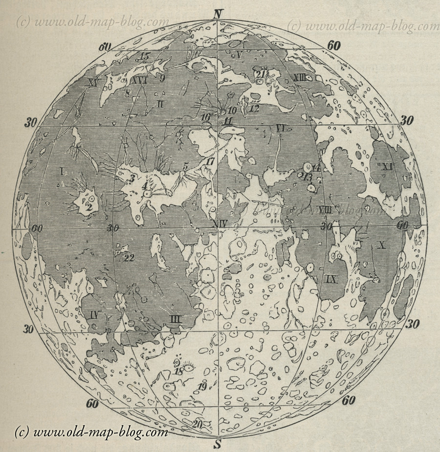 Map of the Moon - 19th Century