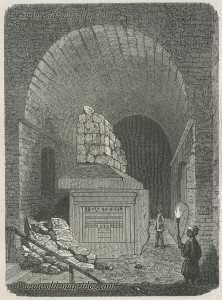 Tomb of Apis in the Serapeum - Egypt - 19th century print