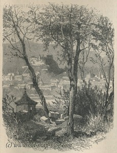 View of Salzburg - Austria - 19th century engraving