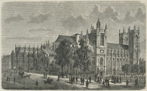 Westminster Abbey - London - 19th century print