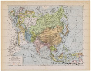 Asia - Political - Boundaries - old map