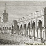 Mosque in Algiers – old engraving