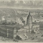 Capitol in Washington &#8211; United States &#8211; 19th Century Print