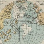 World according to a globe by Martin Behaim 1491