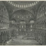 Interior of the Hagia Sophia &#8211; Istanbul &#8211; Constantinople &#8211; Turkey &#8211; 19th century print