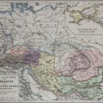 Germany and the Illyrian provinces of the Roman Empire &#8211; Old map &#8211; 19th century