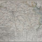 19th Century Map of German – French war in the 19th Century 1870-1871