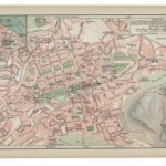 Old 19th Century Map of Edinburgh