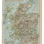old 19th century map of Scotland