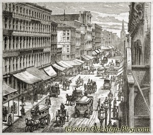 Broadway_New_York - old_engraving