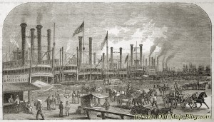 New_Orleans_Harbour - old_engraving